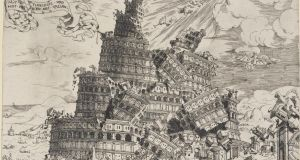 "Fall of the Tower of Babel by Cornelis Anthonisz: The ""normality"" we are used to is fragile. Should we try to get back to it? Photograph: Trustees of the British Museum"
