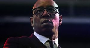Ian Wright, who has worked as a TV pundit since retiring from  playing soccer, shared some of the hateful messages he received by posting them on his own social media accounts. File photograph: Nick Potts/PA Wire