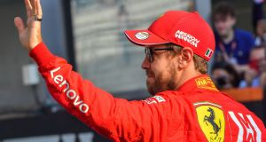 German driver Sebastian Vettel will leave Ferrari at the end of the 2020 season. Photograph: Getty Images