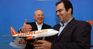 Founder of easyJet Stelios Haji-Ioannau (right) has argued the airline's fleet expansion will destroy shareholder value.