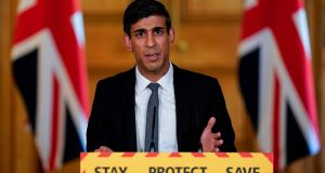 UK chancellor of the exchequer Rishi Sunak.