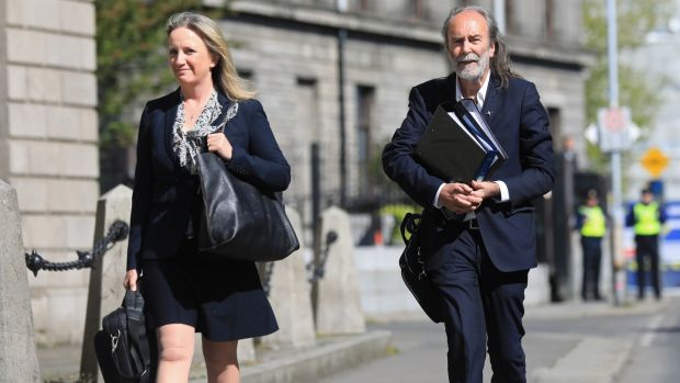 John Waters and Gemma O'Doherty arrive at the High Court in Dublin last week. Photograph: Julien Behal/PA