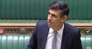 Chancellor Rishi Sunak making a statement in the Commons. He said that from August onwards  furloughed workers would be allowed to work part-time. Photograph: PA Wire