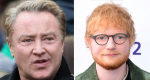 Michael Flatley and Ed Sheeran: both among Britain's ten richest musicians. Photograph: PA Wire