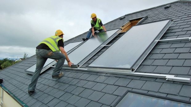 Roof-top solar panels would play a role in the growth of renewable energy. Photograph: courtesy of Construct Ireland