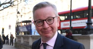 Cabinet office minister Michael Gove has expressed concerns about  'limited progress' in the implementation of parts of the Brexit withdrawal agreement by EU member states. File photograph: Stefan Rousseau/PA Wire