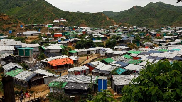 Rohingya refugees have tested positive for coronavirus at a refugee camp in Cox's Bazar. Photograph: Monirul Alam/EPA