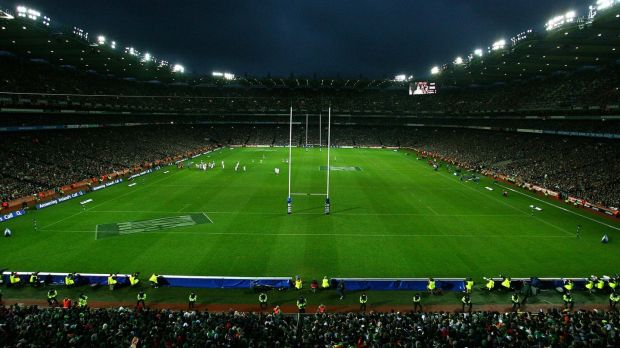 The Ireland v England game viewed from Hill 16. Photograph: Billy Stickland/Inpho