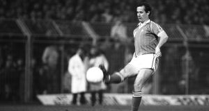 The match against USSR was Liam Brady's debut for Ireland. Photo: Billy Stickland/Inpho