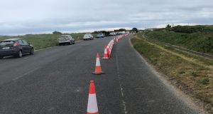 The cycle lane on the road to Bull Island nature reserve, pictured on Monday. Photograph: Olivia Kelly
