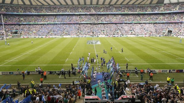 Leinster beat Ulster in the 2012 Heineken Cup final in front of a packed Twickenham. Photograph: Billy Stickland/Inpho