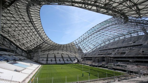 The 2020 Champions Cup final was due to be held at the Stade Velodrome in Marseille. Photograph: Dan Sheridan/Inpho
