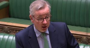 "Michael Gove: ""It remains difficult to reach a mutually beneficial agreement while the EU maintains such an ideological approach,"" he told MPs. Video grab: PRU/AFP via Getty Images"