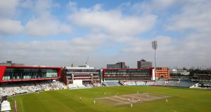Old Trafford has been named as a potential venue for cricket to be played behind closed doors this summer. Photograph: Alex Livesey/Getty