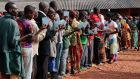 Burundians wait in a queue to vote during the presidential and general elections in Ngozi, northern Burundi. Photograph: AFP via Getty Images