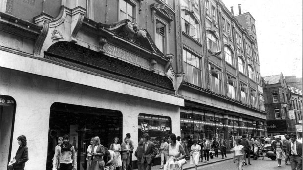 The facade of Switzer's in Dublin in 1983. Photograph: Paddy Whelan/The Irish Times