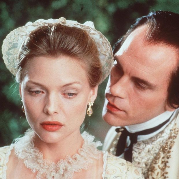 Dangerous Liaisons: John Malkovich with Michelle Pfeiffer in the 1988 film. Photograph: Getty