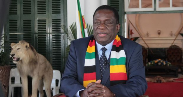 Zimbabwean president Emmerson Mnangagwa said the restrictions would remain in place indefinitely because the country needed to ease strategically  out of its lockdown. Photograph:  EPA/Aaron Ufumeli