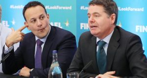 Leo Varadkar and Paschal Donohoe have warned of the need to control the budget deficit once the Covid-19 crisis passes. Photograph: Niall Carson/PA Wire