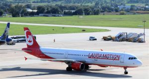The Vienna base, the main hub for Laudamotion, will close on May 29th, Ryanair said Friday in a statement blaming the Vida union for the breakdown. Photograph: iStock