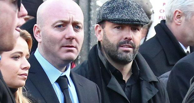 'Fat' Freddie Thompson and Daniel Kinahan                   pictured at the funeral of David Byrne who was shot                   dead in the Regency Hotel attack at St Nicolas of Myra                   Church,on Francis Street , Dublin. Photograph: Collins                   Dublin.