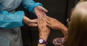 Many nursing homes reported issues around the supply of PPE for staff. Photograph: David Ramos/Getty