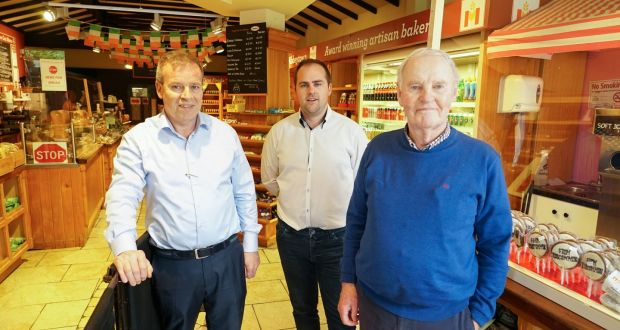 Declan, Mark and Barry Molloy of Molloy's Artisan Bakers in Roscommon. Photograph: Enda O'Dowd