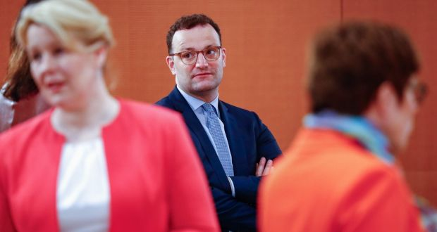 Germany's minister for health Jens Spahn:  'When you're putting out fires, you can't talk about reforming the fire brigade.' Photograph: Fabrizio Bensch/AFP via Getty Images