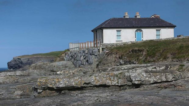 The period cottage overlooks the water at Kilkee, Co Clare.
