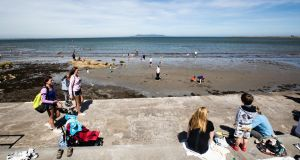 Swim and go: the reopened Forty Foot  in Sandycove, Co Dublin. Photograph: Bryan Keane/Inpho
