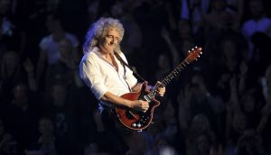 Brian May performing with Queen in Belfast in 2011. Photograph: Ian Gavan/Getty Images