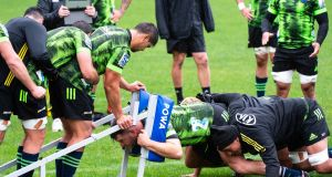 Hurricans train in New Zealand ahead of their return to action. Photo: Elias Rodriguez/Inpho