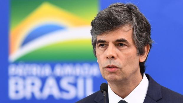 """Nelson Teich speaking on April 17th just after his appointment as health minister. He resigned on May 15th, citing """"incompatibilities"""" with Jair Bolsonaro. Photograph: Evaristo Sa/AFP via Getty Images"""