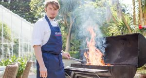 Chef Florin Vasilache of Asador restaurant in Dublin 4, which has just launched a seafood barbecue meal kit.