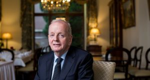 Des  Fitzgerald who will step down as president of the University of Limerick. Photograph: Alan Place