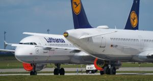 Lufthansa's €9bn state bailout   will be the biggest aid deal offered so far by a European government to an airline grounded by pandemic restrictions. Photograph:  Sean Gallup/Getty Images