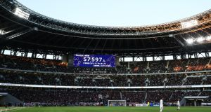 A view of a match between Vissel Kobe and Kashima Antlers at the National Stadium in Tokyo, Japan earlier this year. Photo: Photo by Zhizhao Wu/Getty Images
