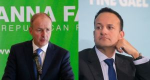 The report comes at a crucial time for government formation talks between Fianna Fáil, Fine Gael and the Green Party. Photographs: Nick Bradshaw/The Irish Times and Gareth Chaney/Collins