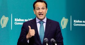 Project Ireland 2040 was one the flagship initiatives of Taoiseach Leo Varadkar's time at the helm of the Fine Gael-Independent minority government in the last Dáil. Photograph: Leon Farrell/Photocall