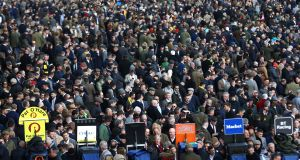 These scenes at Cheltenham were happening during a global pandemic. Photo: Michael Steele/Getty Images