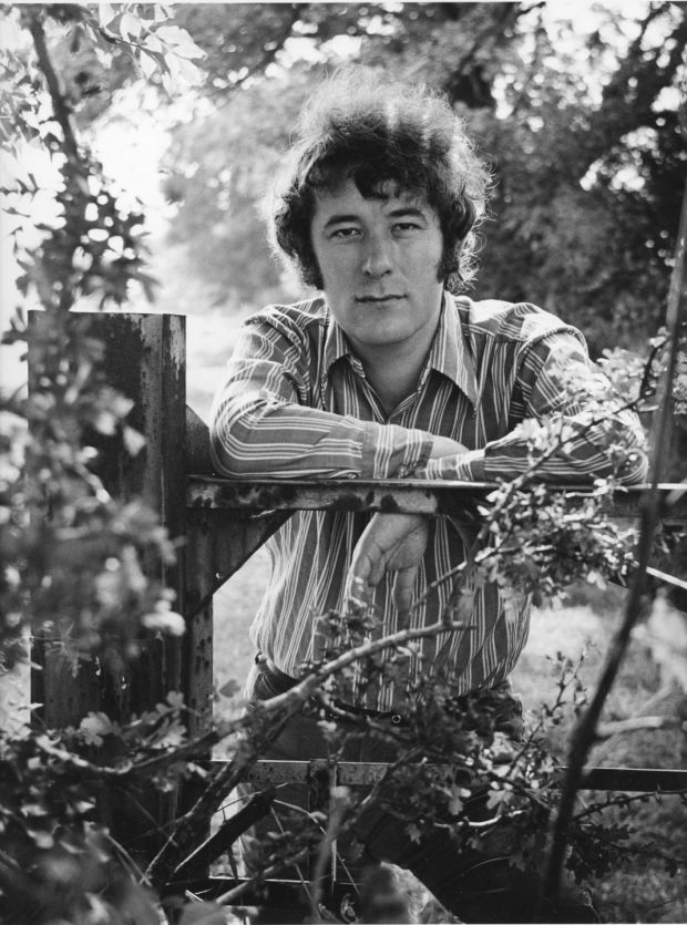 Seamus Heaney in Co Wicklow in 1971. Photograph: Jack McManus