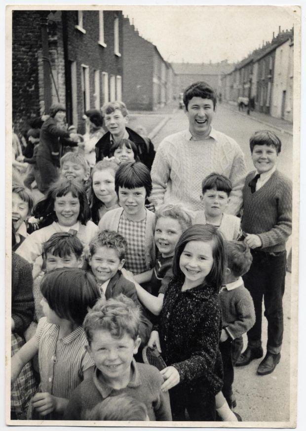 Seamus Heaney with his pupils in Belfast in the 1960s