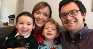 Dr Jean Donnelly pictured with her family: 'The effect the pandemic is having on my family breaks my heart.'