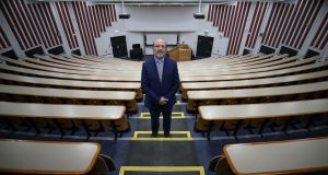 DCU president Brian MacCraith: A 500-seat, tiered lecture theatre on campus will only accommodate 50  students. Photograph: Nick Bradshaw