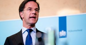 Dutch prime minister Mark Rutte: 'Countries that are bailed out will have to say what they will do to make sure this situation does not arise again.' Photograph: EPA