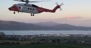The Shannon Rescue 115 helicopter responded to the incident on Thursday. File photograph: Irish Coast Guard/PA Wire