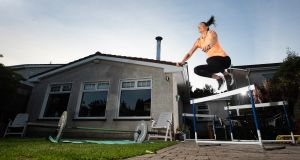 Irish athlete Ciara Neville trains at home in Limerick. Photograph: Tommy Dickson/Inpho