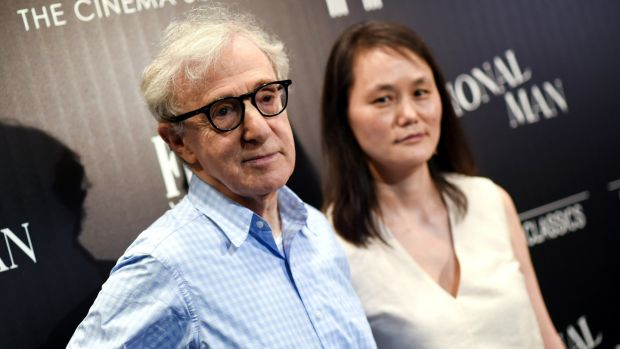 Woody Allen and wife Soon-Yi Previn in 2015. Photograph: Evan Agostini/Invision/AP