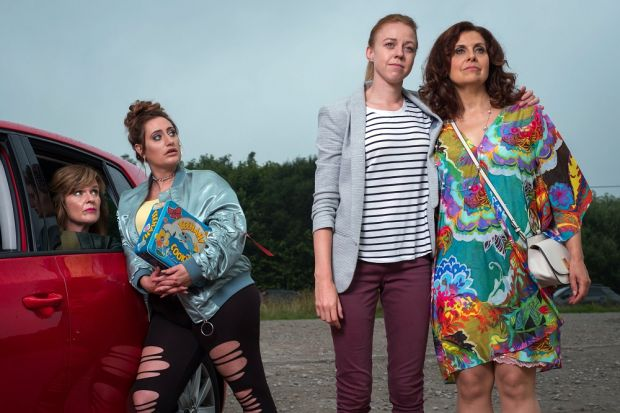Siobhan Finneran, Lauren Socha, Ellie White and Rebecca Front in The Other One