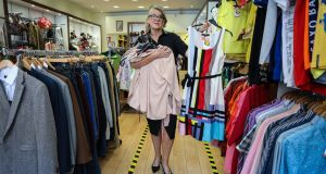 Oonagh O'Connor, manager of Enable charity shop on South Great George's Street, Dublin. Photograph: Crispin Rodwell/The Irish Times.